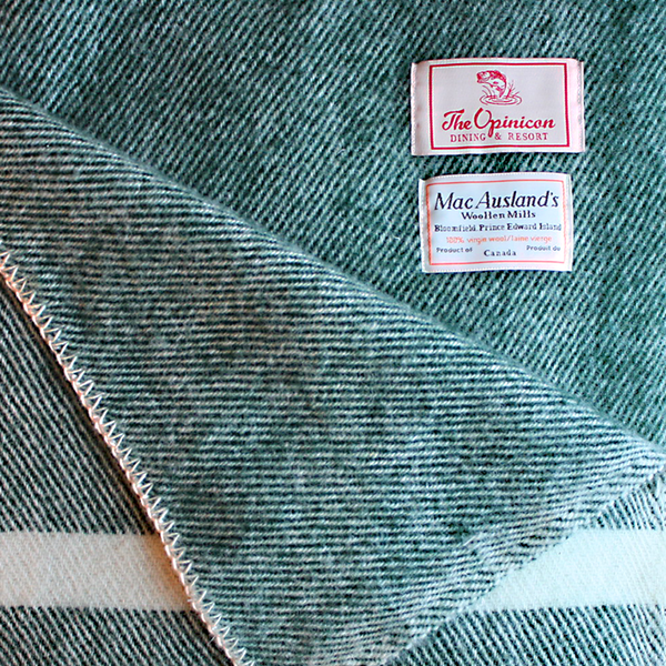 Opinicon Handmade 100% Virgin Wool Blanket