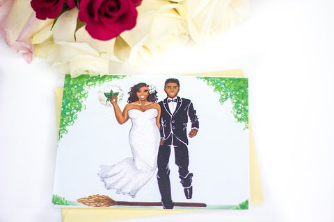 Jumping the Broom Single Card
