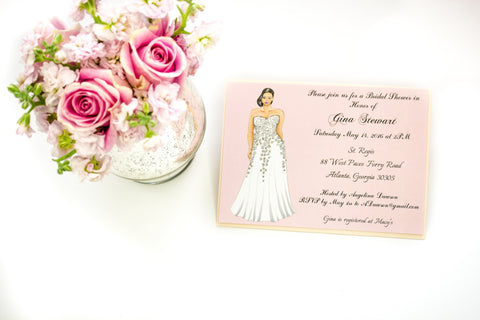 """The Eva"" Bridal Shower Invitation"