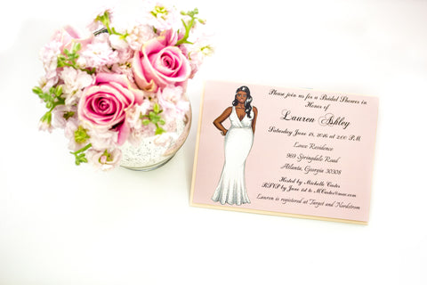 """The Angela"" Bridal Shower Invitation"