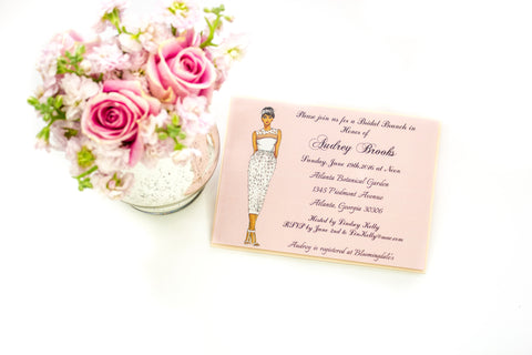 """The Halle"" Bridal Shower Invitation"