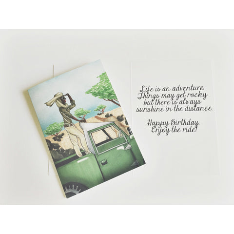 """Life is an Adventure"" Birthday Card"