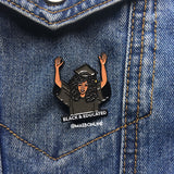 Black + Educated Enamel Pin