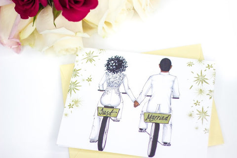 """Just Married"" Card"