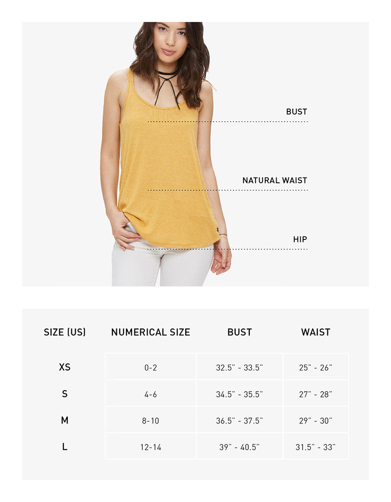 Womens tops fit guide
