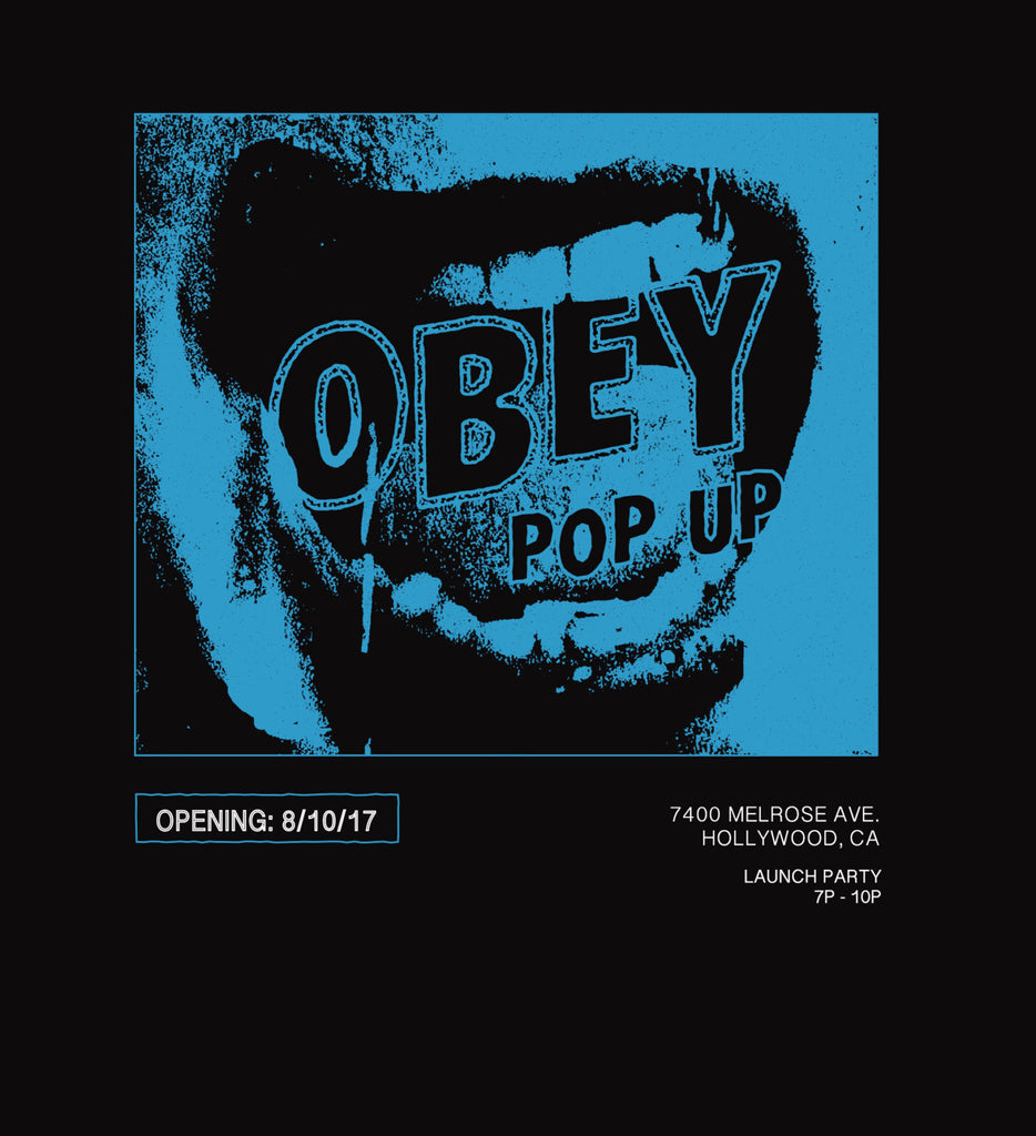OBEY LOS ANGELES POP UP STORE OPEN ALL AUGUST