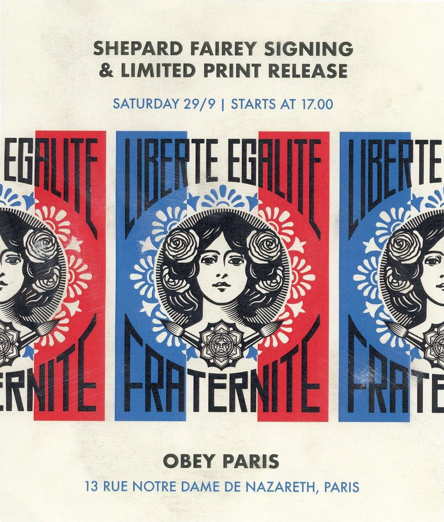 SHEPARD FAIREY SIGNING PRINT RELEASE