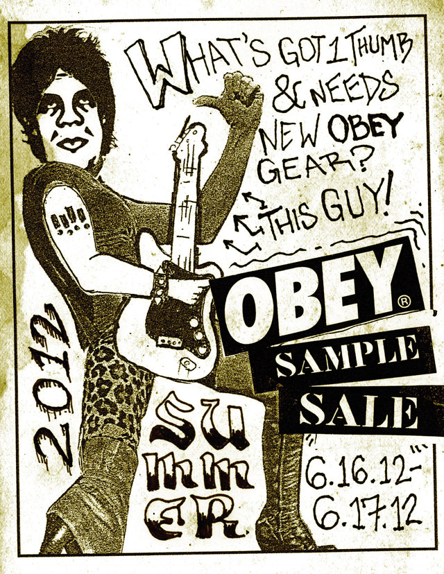 Obey clothing 2012 summer sample sale obey giant.