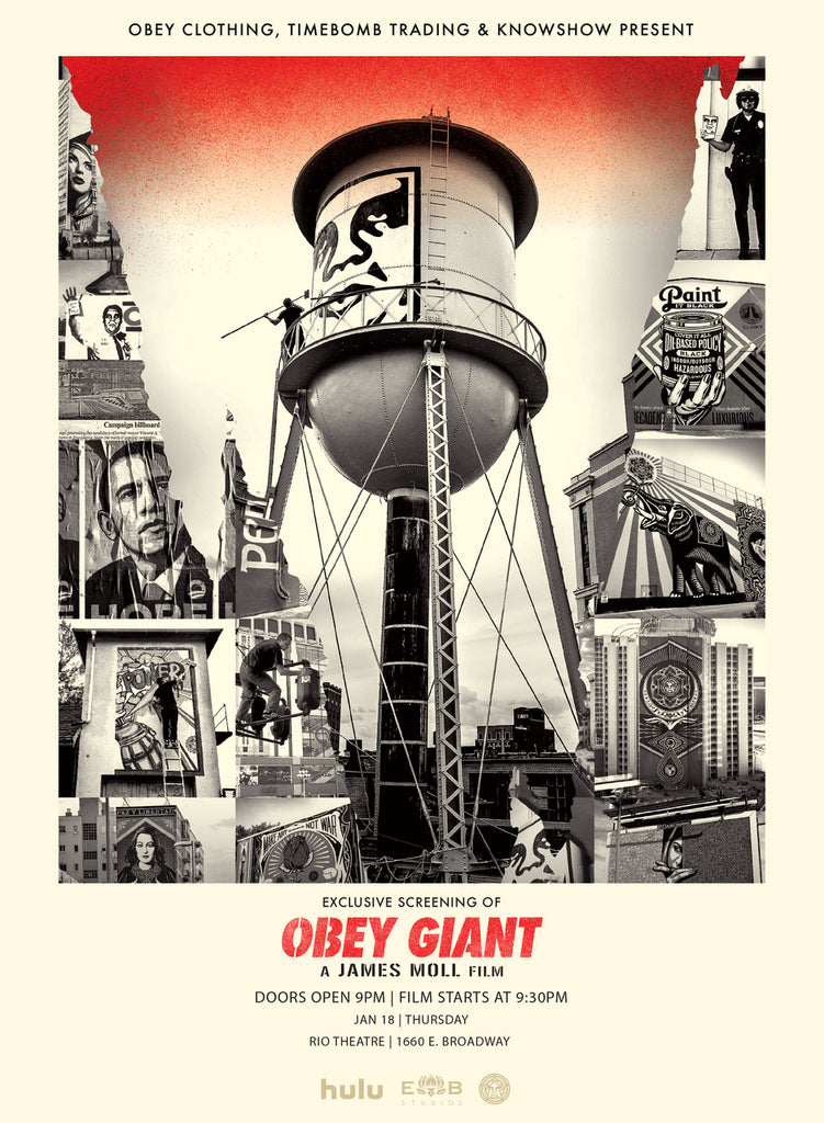 OBEY GIANT SCREENING VANCOUVER 1/18/18