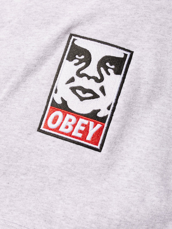 Icon Heavy Weight Pullover Hood Ash | OBEY Clothing
