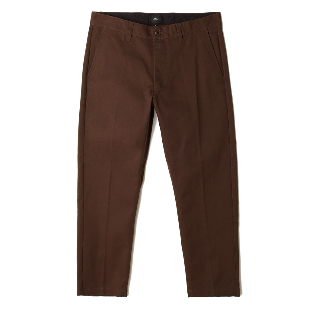 Straggler Flooded Pant Brown | OBEY Clothing