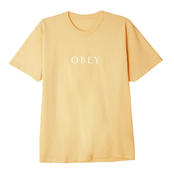 Novel III Sustainable Tee Croissant | OBEY Clothing