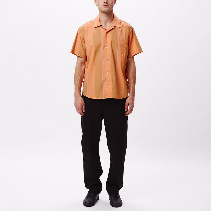 Shanty SS Shirt Tan leather multi | OBEY Clothing