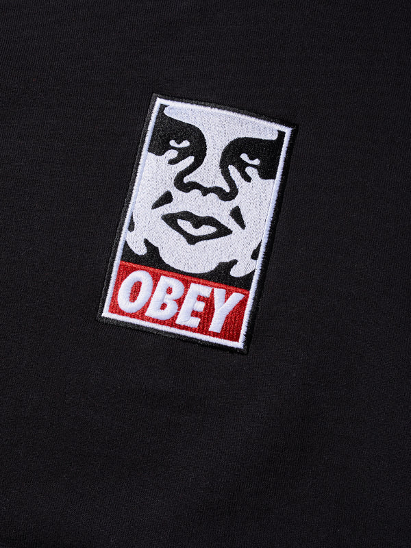 Icon Strong Crewneck Black | OBEY Clothing
