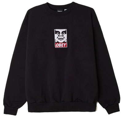 Icon Heavyweight Crewneck black | OBEY Clothing
