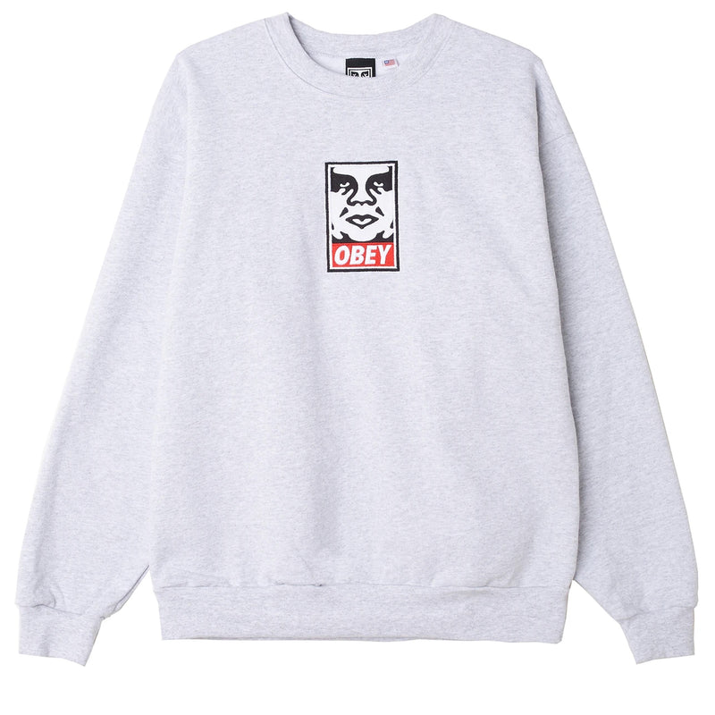Icon Heavyweight Crewneck ash | OBEY Clothing
