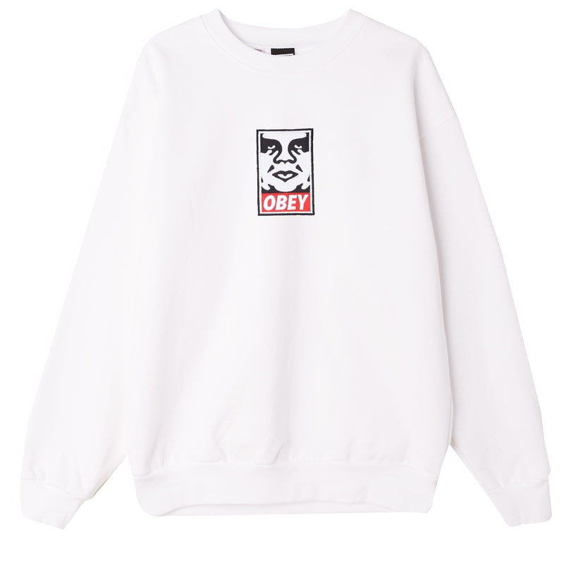 Icon Heavyweight Crewneck White | OBEY Clothing