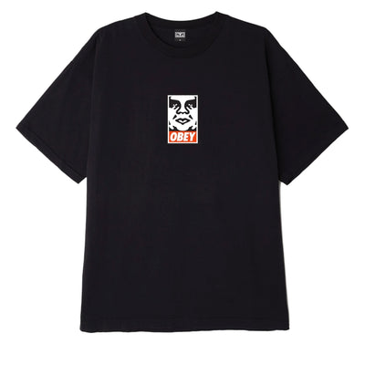 OBEY Icon Face Heavyweight Classic Box Tee black | OBEY Clothing