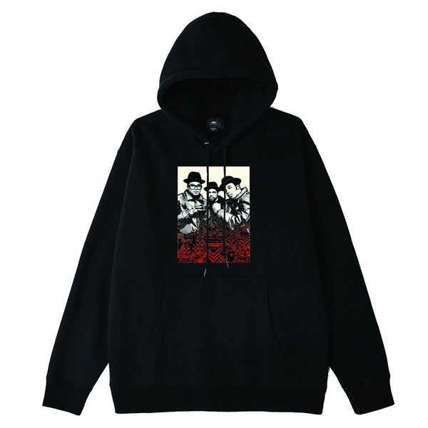 OBEY x Glen E. Friedman Run DMC Premium Pullover Hood Black | OBEY Clothing