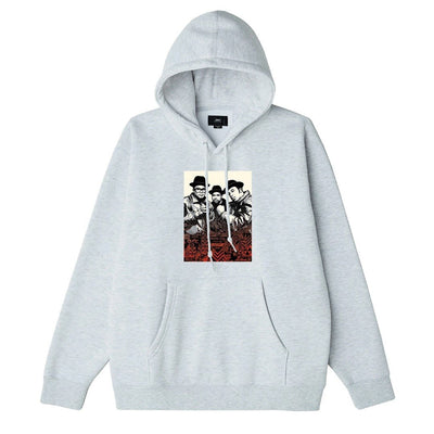 OBEY x Glen E. Friedman Run DMC Premium Pullover Hood ash grey | OBEY Clothing