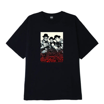 OBEY x Glen E. Friedman Run DMC Heavyweight Tee black | OBEY Clothing