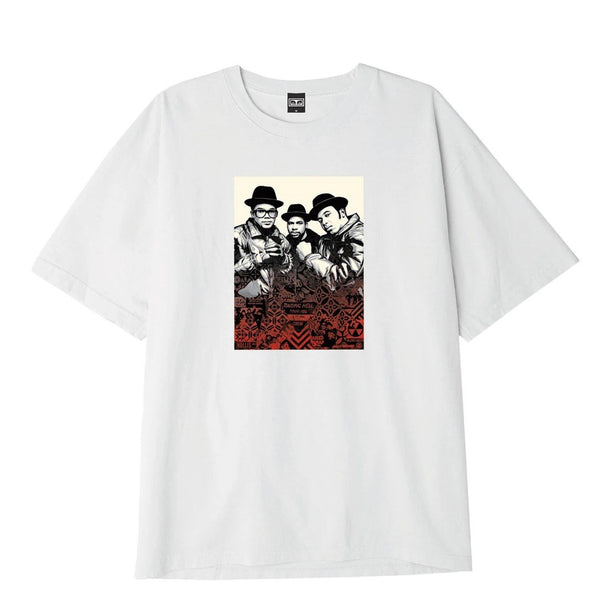 OBEY x Glen E. Friedman Run DMC Heavyweight Tee White | OBEY Clothing