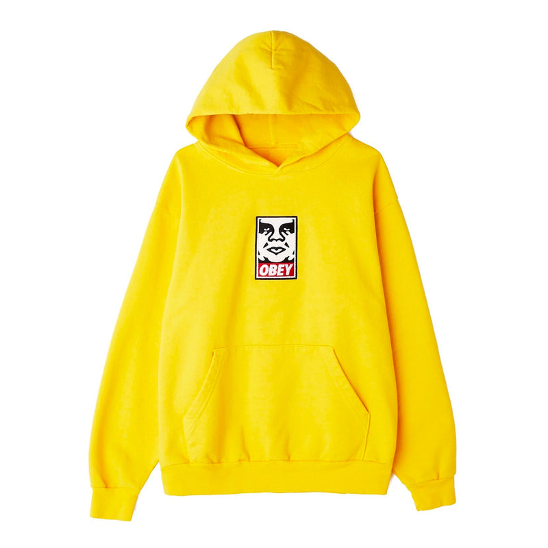 Icon Heavy Weight Pullover Hood Gold | OBEY Clothing