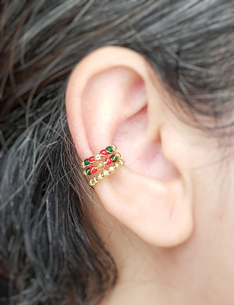 Holiday ear cuff set