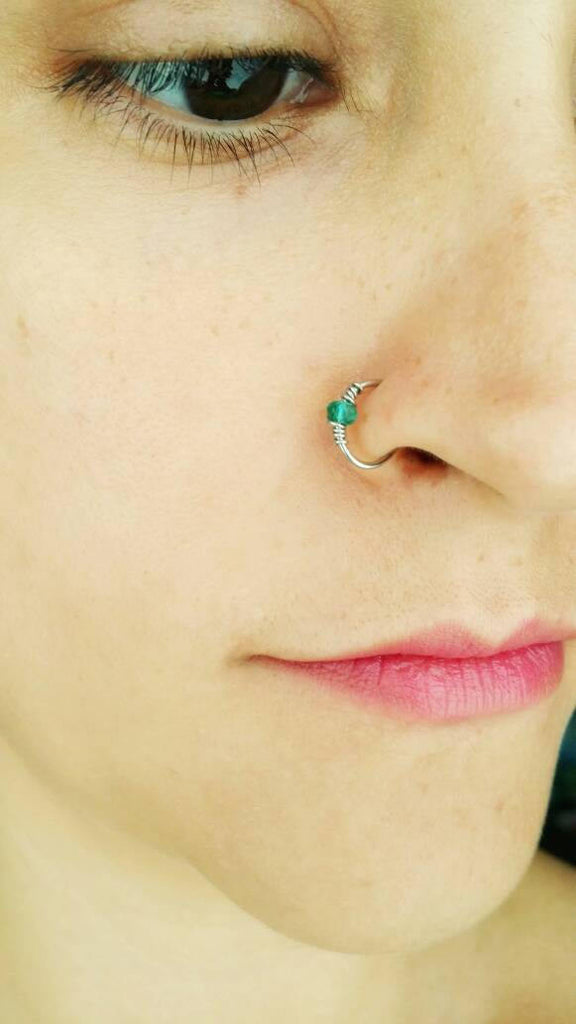 Fake Nose Ring - Silver Nose Ring