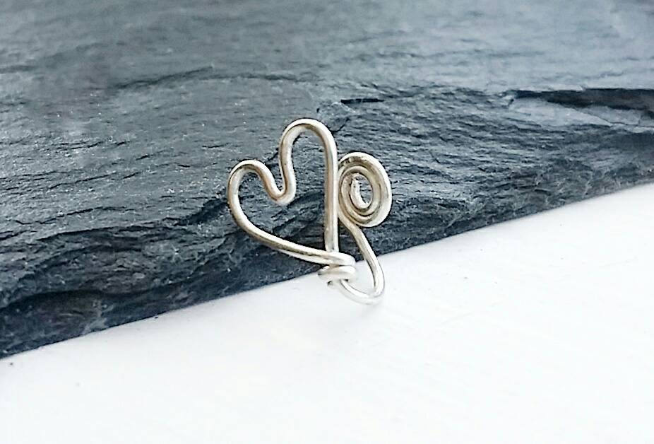 Heart Nose Ring - Fake Nose Ring
