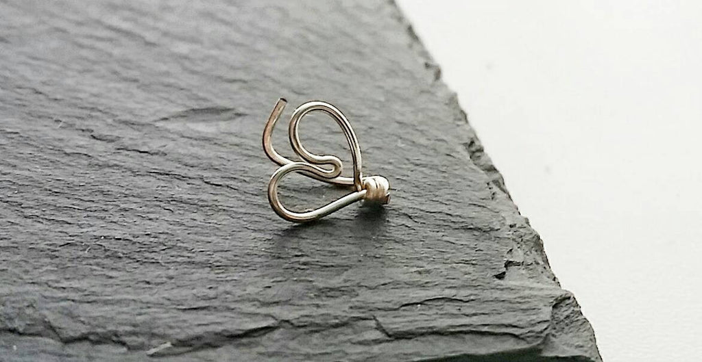 Heart Tragus Earring - Fake Piercings