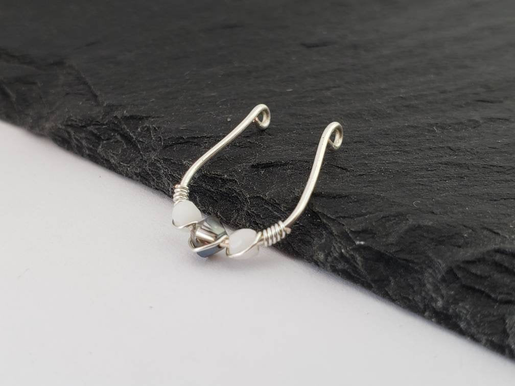 Fake Septum Ring Silver