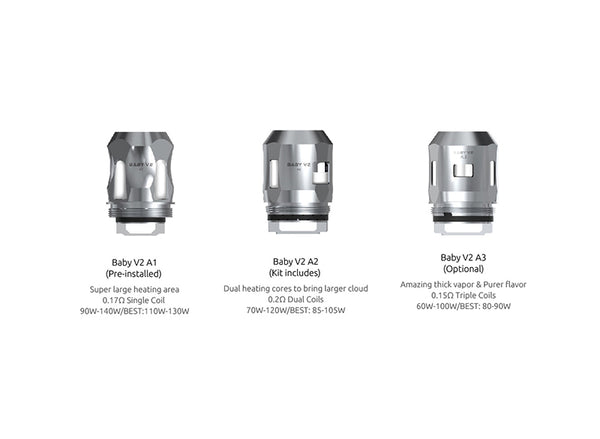 TFV8 Baby V2 Replacement Coils by SmokTech Toronto Ontario Canada Wicks & Wires Vape Shoppe