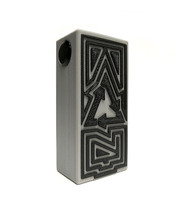 Authentic 32mm Plastique Dual 18650 Series Mechanical Box Mod  by Plastique Toronto Ontario Canada Wicks & Wires Vape Shoppe