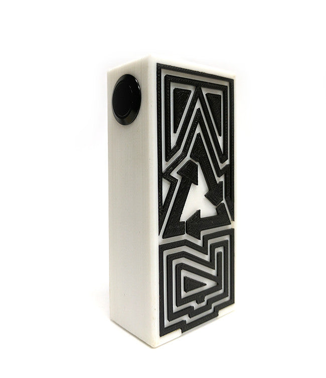 Authentic 28mm Plastique Dual 18650 Series Mechanical Box Mod  by Plastique Toronto Ontario Canada Wicks & Wires Vape Shoppe