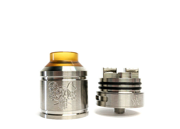 Sherman 28mm RDA by Asylum Mods Toronto Ontario Canada Wicks & Wires Vape Shoppe