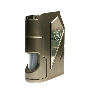Vanguard, The Night Shade (Gunmetal Grey) Metal SX475J 18650 Bottom Feed Mod by Vicious Ant Toronto Ontario Canada Wicks & Wires Vape Shoppe