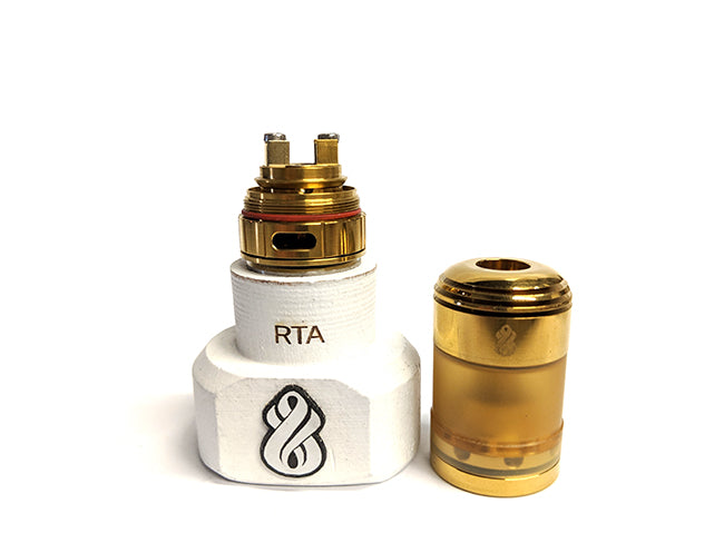 Hussar Torpedo Micro LE Gold RTA by Hussar Vapes Toronto Ontario Canada Wicks & Wires Vape Shoppe