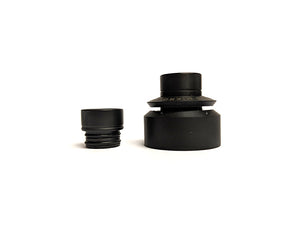 Black PEI Cap Assembly for Mikro BF Titanium RDA by Adler Industries Toronto Ontario Canada Wicks & Wires Vape Shoppe