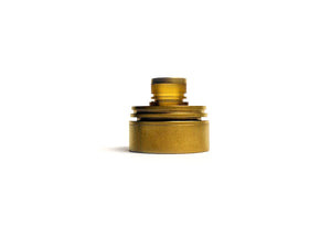 Satin Gold Inverted Torpedo Cap by Hussar Vapes Toronto GTA Vaughan Ontario Canada | Wicks & Wires Vape Shoppe