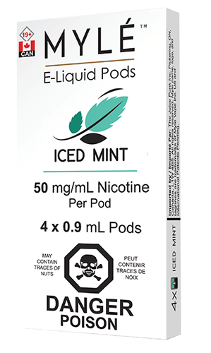 Iced Mint Myle Pods by Myle Toronto GTA Vaughan Ontario Canada | Wicks & Wires Vape Shoppe