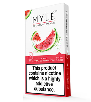 Iced Watermelon Myle Pods by Myle Toronto GTA Vaughan Ontario Canada | Wicks & Wires Vape Shoppe