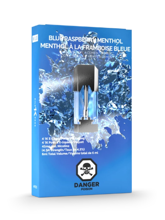 Blue Raspberry Menthol 1K Pods by Kilo E-Liquids Toronto GTA Vaughan Ontario Canada | Wicks & Wires Vape Shoppe