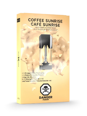 Coffee Sunrise 1K Pods by Kilo E-Liquids Toronto GTA Vaughan Ontario Canada | Wicks & Wires Vape Shoppe