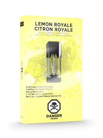 Lemon Royale 1K Pods by Kilo E-Liquids Toronto GTA Vaughan Ontario Canada | Wicks & Wires Vape Shoppe