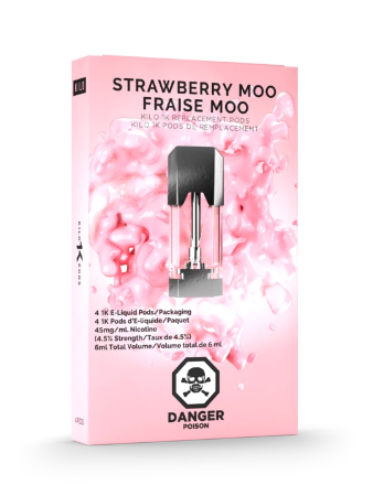 Strawberry Moo 1K Pods by Kilo E-Liquids Toronto GTA Vaughan Ontario Canada | Wicks & Wires Vape Shoppe