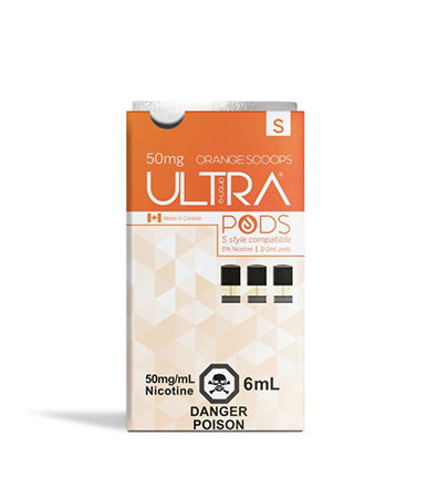 Orange Dreamsicle Ultra Pods S Style Compatible by Ultra Liquid Labs Toronto GTA Vaughan Ontario Canada | Wicks & Wires Vape Shoppe
