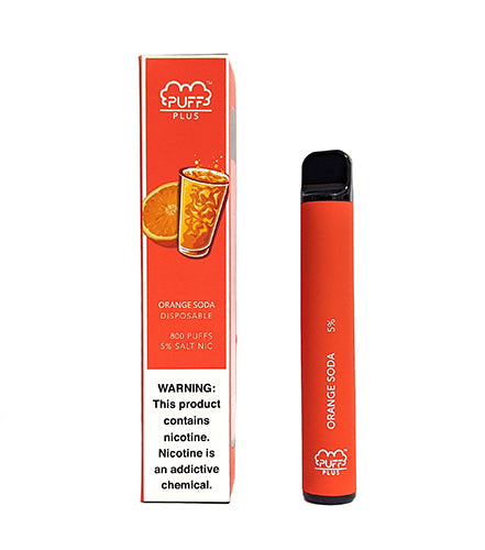 Orange Soda by Puff Bar PLUS Toronto GTA Vaughan Ontario Canada Wicks & Wires Vape Shoppe