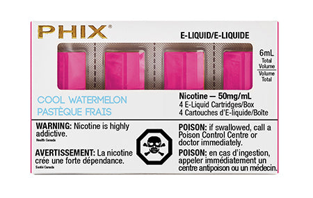 PHIX Pods Cool Watermelon by MLV Toronto GTA Vaughan Ontario Canada Wicks & Wires Vape Shoppe