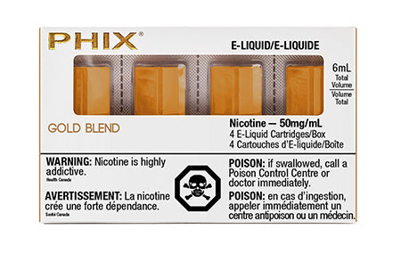 PHIX Pods Gold Blend by MLV Toronto GTA Vaughan Ontario Canada Wicks & Wires Vape Shoppe